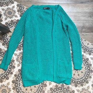 Sweaters - Blue/Green cardigan